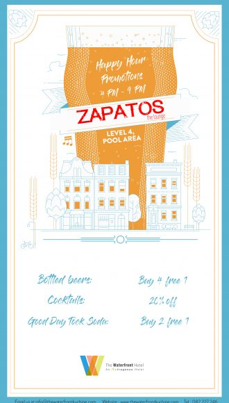 Zapatos The Lounge Happy Hour Promotion